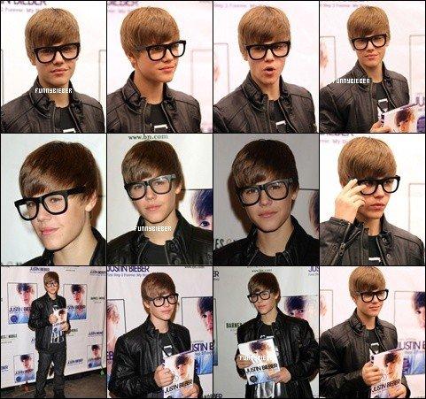 - Comme Justin a dit sur son TWITTER, il était à Barnes & Noble Bookstore à Los Angeles pour signer quelques livres.  -