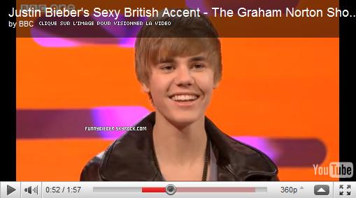 """- - Justin au """" Graham Norton Show """" , Londres - 4 Décembre - -"""