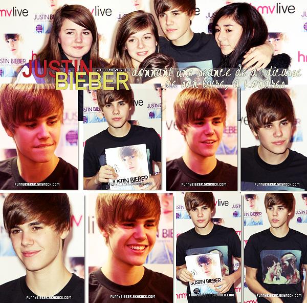 """- - Le 5 decembre dernier, Justin a donner une sécance de dédicasse de son livre """" First step 2 forever my story """"à Londres  - -"""