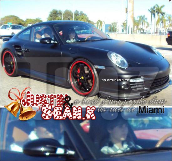 - - Justin et Sean Kingston ont été aperçu dans les rues de Miami où Justin conduisait une porshe + Justin et Selena.G ont été photographié entrant le le bus de la tournée de Bieber. - -