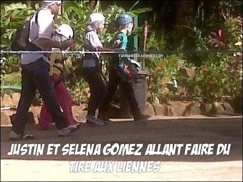 - - Justin s'est rendu sur l'île de St Lucia pour y passer quelques jours accompagné de Scooter Braun, Ryan Butler, et de ..... SELENA GOMEZ  ( quelle suprise ) ainsi que la cousine à Selena.  - -