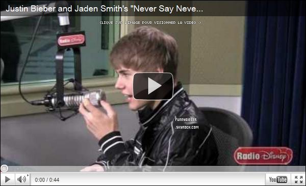 """- -Justin s'est rendu dans les studio de """" Radio Disney """" pour leur donner une interview - 11 Février - -"""