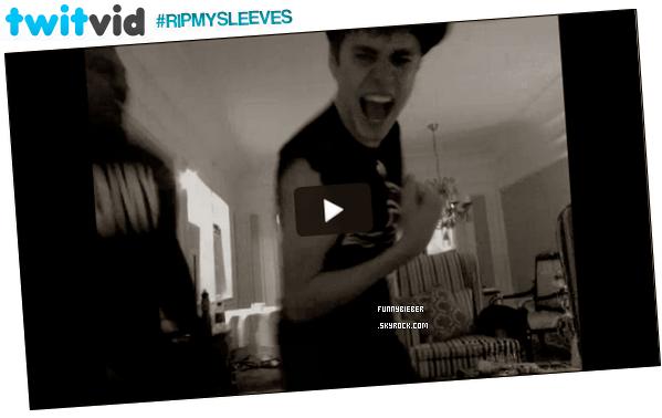 """- - Justin a posté cette vidéo sur Twitter suivis de ce message : """" Je suis plus aérodynamique quand je #ripmysleeves """" - -"""