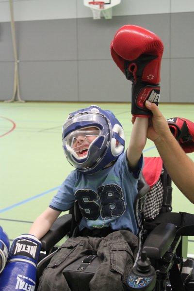 Séance de boxe avec des Handicapés
