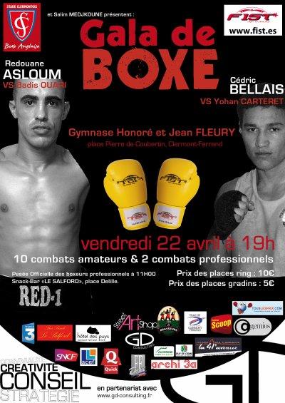 Stade Clermontois boxe anglaise et Salim Medjkoune Présente
