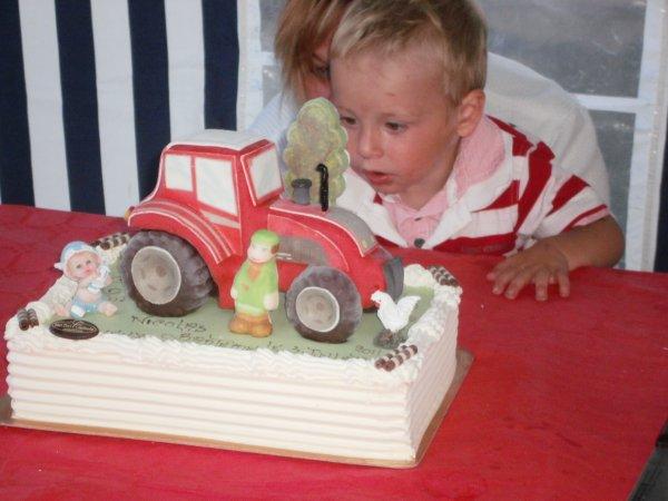 bapteme de mon fils(passioné de tracteur comme papa)