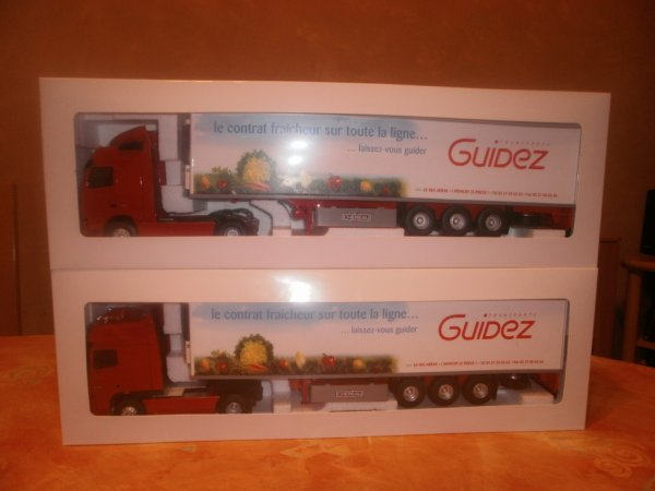 volvo fh 3 semi frigo transport guidez + daf xf 105 superspace semi chereau