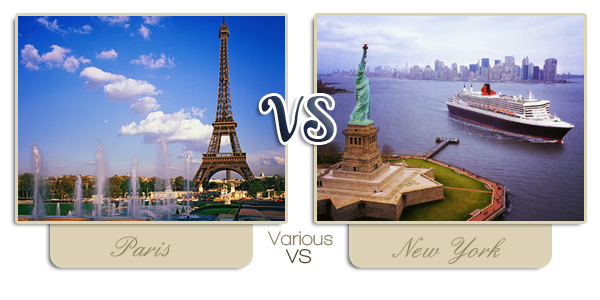 ~ Paris VS New York ~