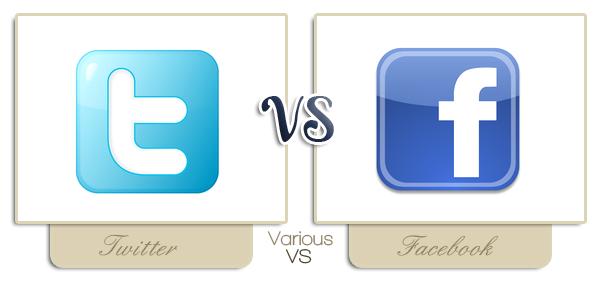 ~ Twitter VS Facebook ~