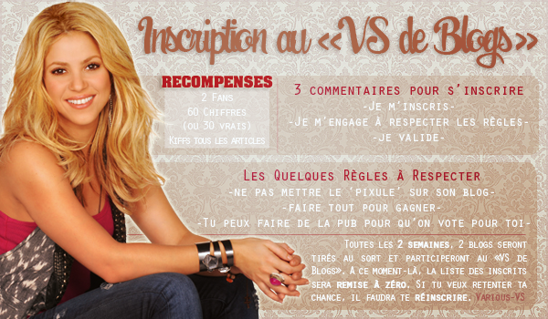 "~ Inscription ""VS de Blogs"" ~"