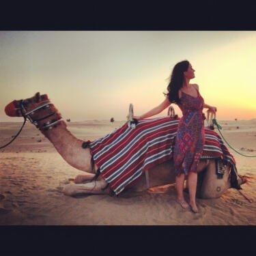 Katy Perry lors de son concert a Dubai