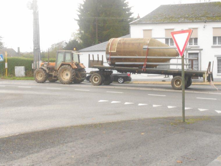tracteur et plateau