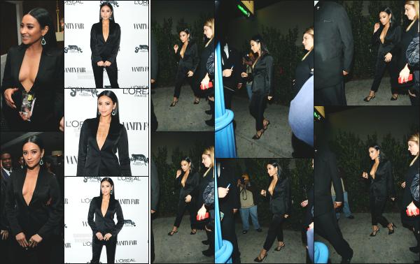 - 21.02.17 ─ Shay Mitchell s'est rendue à un évenement organisé par Vanity Fair et L'Oreal Paris à West Hollywood ! [/s#00000ize]Un peu plus tard dans la soirée, Shay est aperçue alors qu'elle quittait la soirée. Ca tenue est très classe et vraiment jolie, qui lui va très bien. C'est un top  -