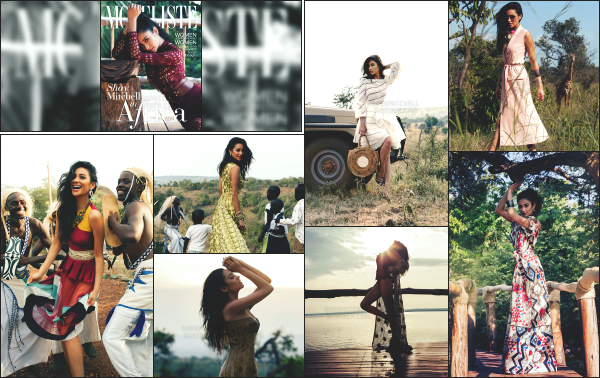 """"""" • Shannon Mitchell a réalisé un photoshoot pour « Modeliste Magazine » édition avril !  En effet le photoshoot à été réalisé en Afrique comme on peut le voir sur les clichés. Je le trouve très réussi, Shay est rayonnante avec de belles tenues ! -"""