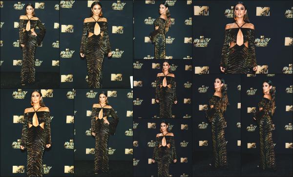 - 07.05.17 ─  Notre belle Shay Mitchell s'est rendue à la cérémonie des « MTV Movie and TV Awards » à Los Angeles[/s#00000ize]Shay portait une longue robe à la coupe plutôt originale, que je n'apprécie pas trop mais qui lui va quand même très bien il faut l'avouer. Donc petit top !  -