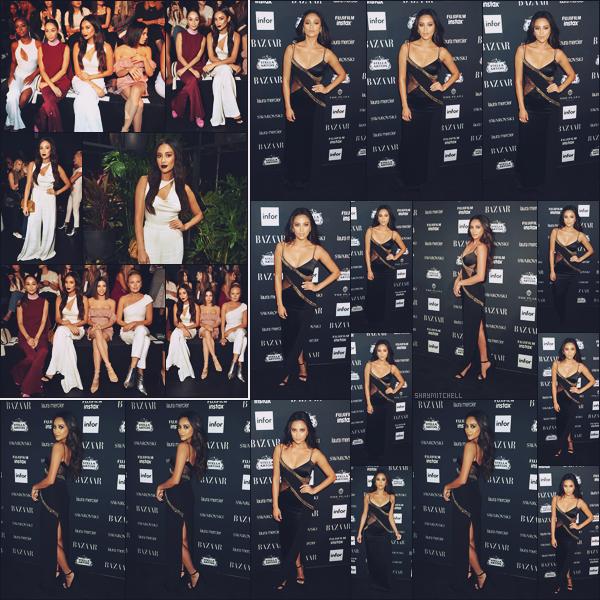 - 08.09.17 ─ La magnifique Shay Mitchell s'est rendue au défilé de la marque  « the Cushnie Et Ochs » à New York ![/s#00000ize]En raison de la Fashion Week, plus tard elle s'est rendue à la soirée  « Harper's Bazaar ICONS » toujours à New York, j'accorde deux sublimes tops, avis? -