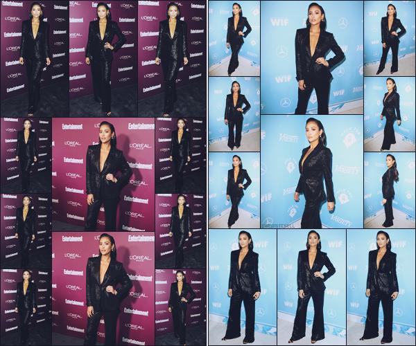 - 15.09.17 ─ La jolie Shay Mitchell s'est rendue à la soirée  « Entertainment Weekly Pre-Emmy Party » à Los Angeles.[/s#00000ize]Puis plus tard elle est allée à une autre soirée :  « Variety and Women in Film Emmy Nominee Celebration » toujours à L.A, c'est un joli top pour sa tenue. -
