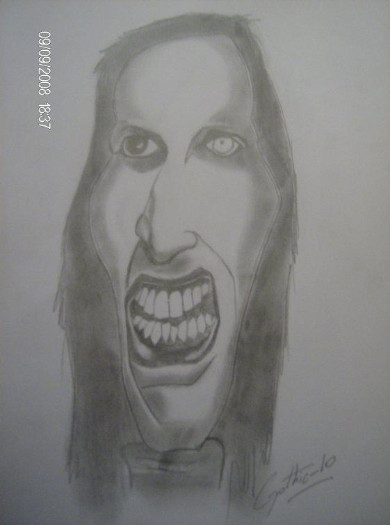 MON dessin marilyn manson ************