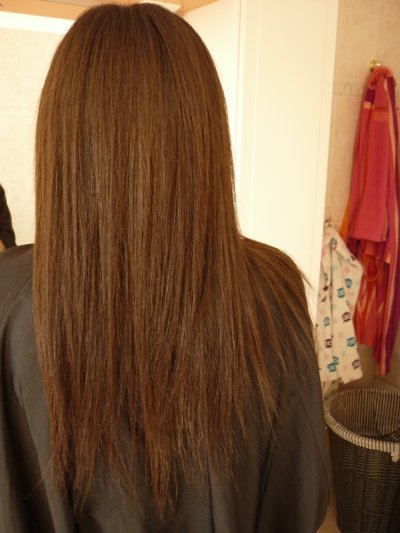 Cheveux long en pointe
