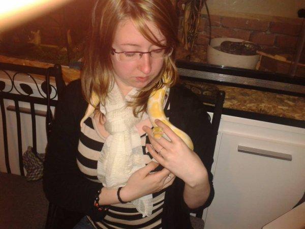 Moi et le python albinos