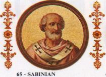 Chronologie des papes__Sabinien