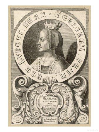 Reines et Impératrices de France _ _ Gerberge de Saxe