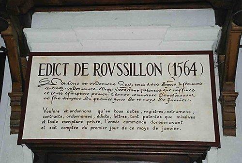 Les Edits _ _ Édit de Roussillon