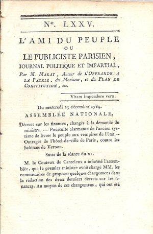 Histoire de la presse écrite _ _ L'Ami du peuple (1789)
