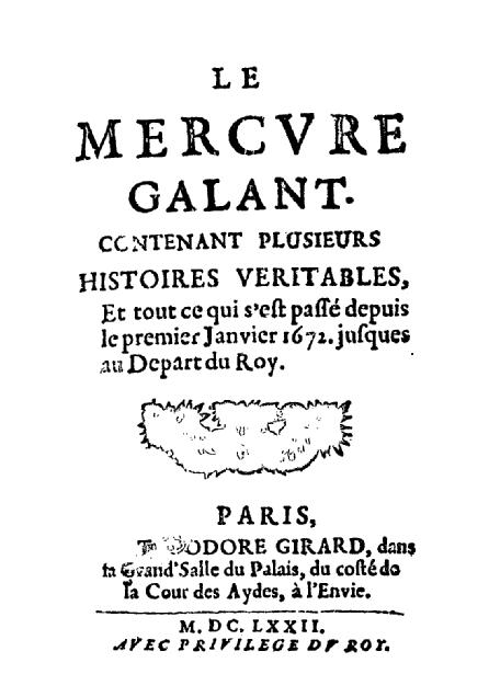 Histoire de la presse écrite _ _ Mercure de France
