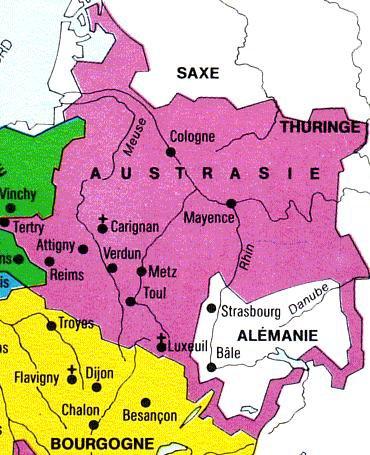 Anciennes Provinces _ _ l'Austrasie
