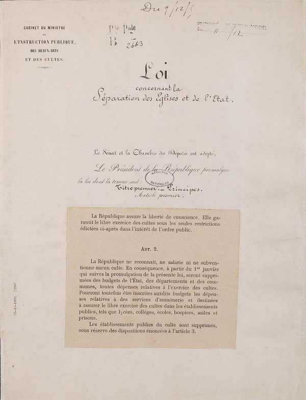 Loi de séparation des Églises et de l'État