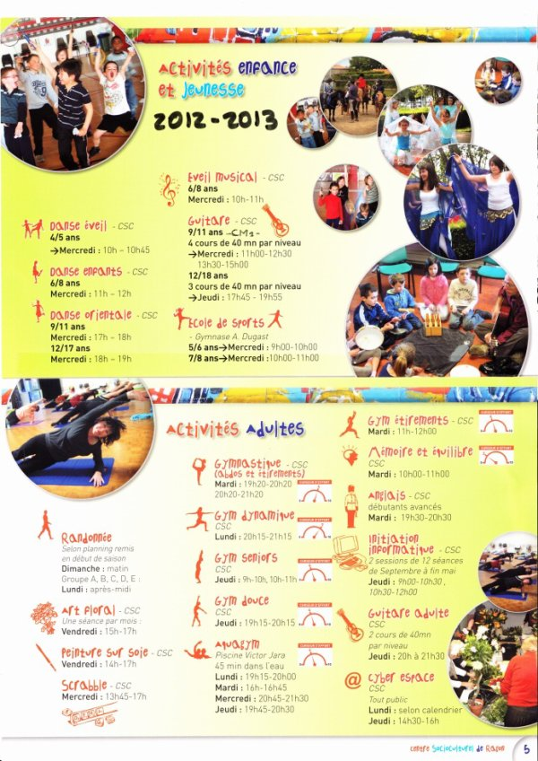 ACTIVITES 2012-2013