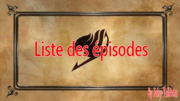 Fairy Tail Liste des épisodes