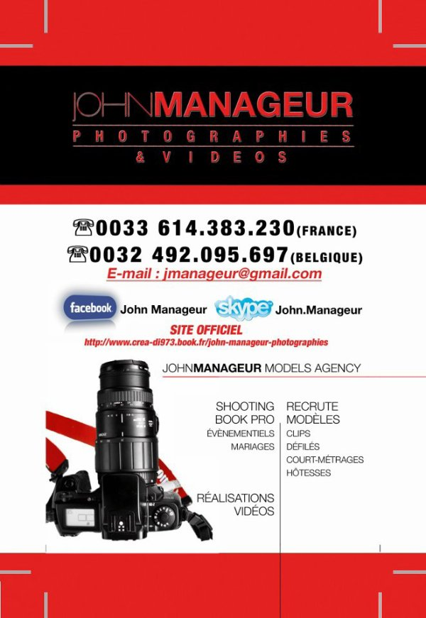 JOHN MANAGEUR PHOTOGRAPHIES & VIDEO SHOOTING BOOK PRO