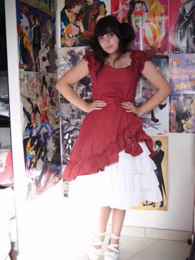 Photo dans une robe classic lolita/gothic lolita
