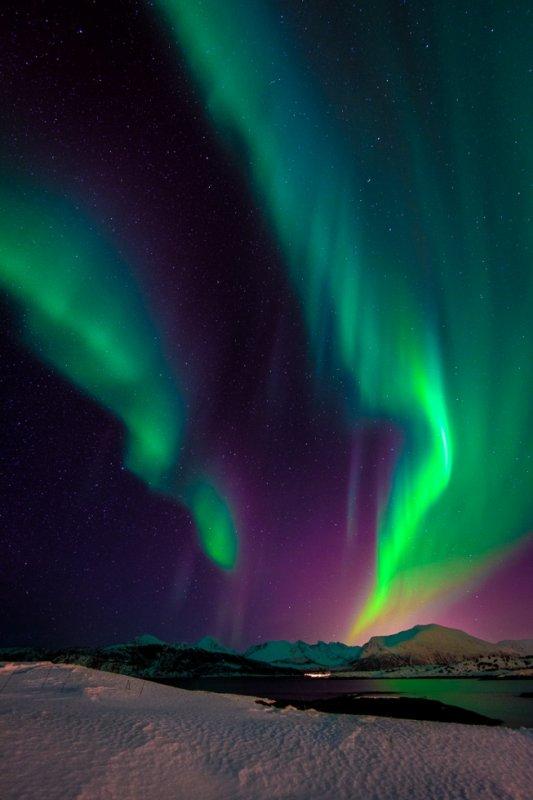 Waw! Une aurore boréales.