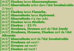 Changement de programme / Week end Glourséleste / Grade 10