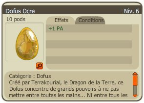 Dofus Ocre / Glourséleste / Commandes / Diamantage / Fans