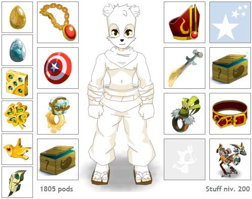 Préparatifs 2.11 [#5] : Stuff de mon pandawa 2.11