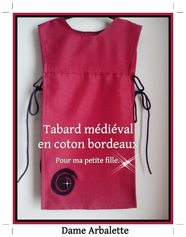 Tabard médiéval  enfant  - Surcot.