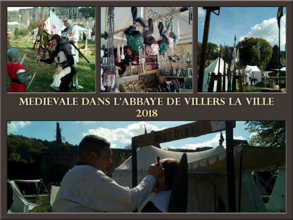 fête  médiévale dans l'abbaye de Villers la ville.