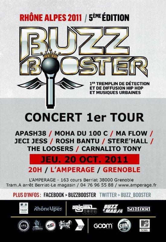 BUZZBOOSTER 2011 à GRENOBLE !!! CONCERT GRATUIT !!!