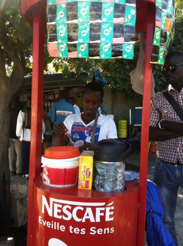 Les vendeurs de café dans la rue ;)