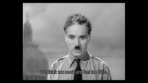"VUS SUR ""THE GREAT DICTATOR"""