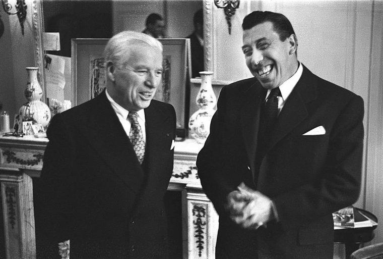 Photo coup de coeur : Charles Chaplin & Fernandel