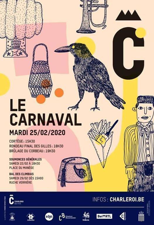 je ne serait pas au carnaval de charleroi mardi