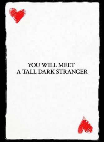 Vous allez rencontrer un bel et sombre inconnu