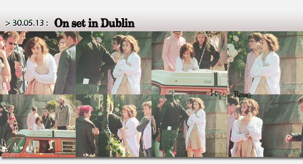 On set of 'Love, Rosie' with Lily & Sam...