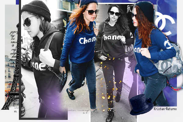 # Kristen Stewart in Paris & NYC ~  04.02.14 : 2nd day
