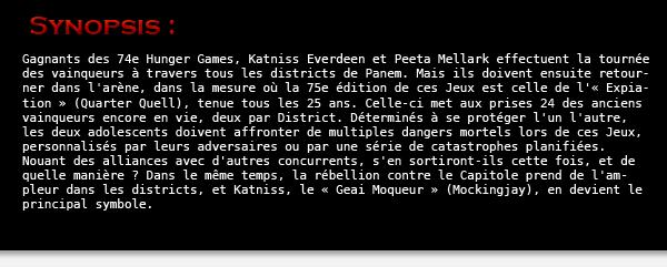 - Article médiathèque de Kristen-returnsThe Hunger Games : Catching Fire